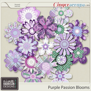 Purple Passion Blooms by Aimee Harrison