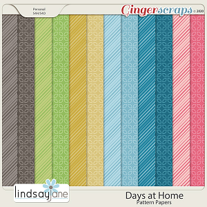 Days at Home Pattern Papers by Lindsay Jane