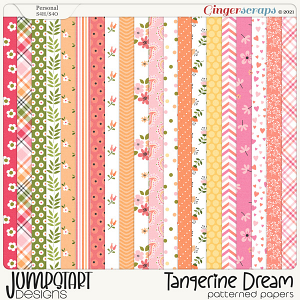 Tangerine Dream {Patterned Papers} by Jumpstart Designs