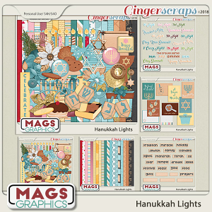 Hanukkah Lights BUNDLE by MagsGraphics