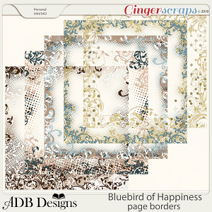 Bluebird of Happiness Page Borders by ADB Designs