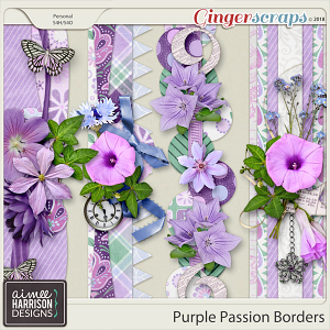 Purple Passion Borders by Aimee Harrison