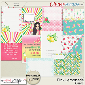 Pink Lemonade Cards by PrelestnayaP and Neia Scraps