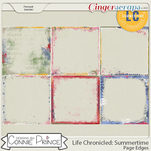 Life Chronicled: Summertime - Page Edges by Connie Prince