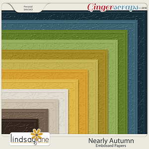 Nearly Autumn Embossed Papers by Lindsay Jane