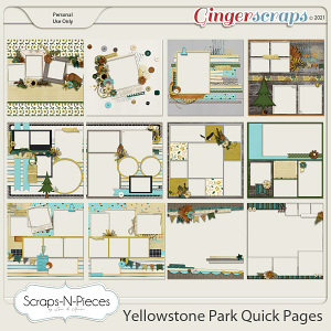 Yellowstone Park Quick Pages - Scraps N Pieces