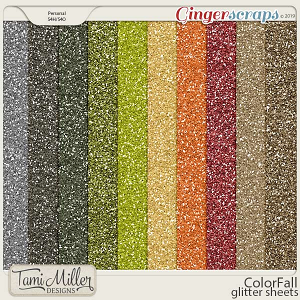 ColorFall Glitter Sheets by Tami Miller Designs