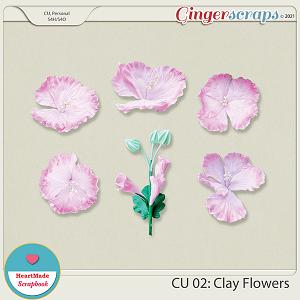 CU 02 - Clay flowers