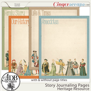 Heritage Resource Story Journaling Pages Set 01 by ADB Designs