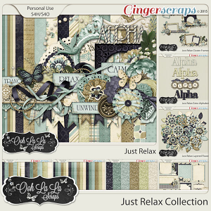 Just Relax Digital Scrapbook Bundle