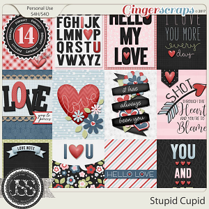 Stupid Cupid Pocket and Journal Scrap Cards