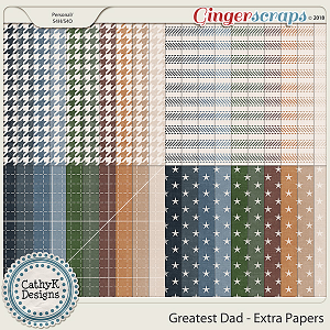 Greatest Dad - Extra Papers by CathyK Designs