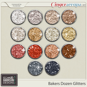 Bakers Dozen Glitters by Aimee Harrison