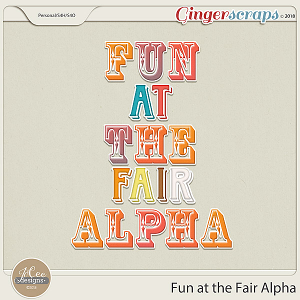 Fun At The Fair Alphas by JoCee Designs