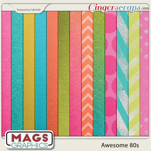 Awesome 80s EXTRA PAPERS by MagsGraphics