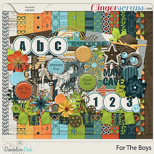 For The Boys Digital Scrapbook Kit by Dandelion Dust Designs