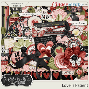 Love Is Patient Digital Scrapbooking Kit