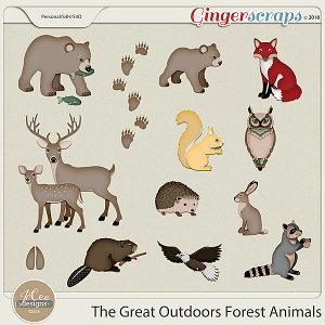 The Great Outdoors Forest Animals by JoCee Designs