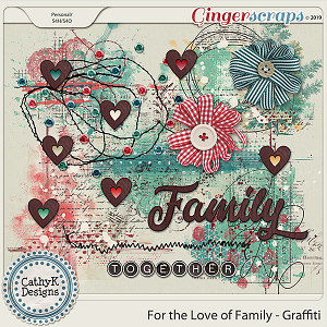 For the Love of Family - Graffiti by CathyK Designs