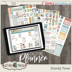 Family Time Planner Pieces- Scraps N Pieces