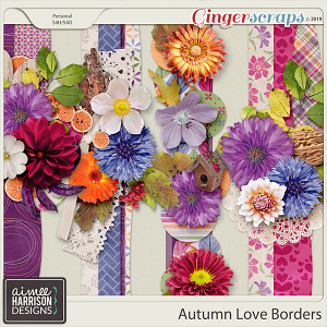 Autumn Love Borders by Aimee Harrison
