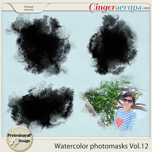 Watercolor photomasks Vol.12