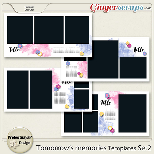 Tomorrow's memories templates Set 2