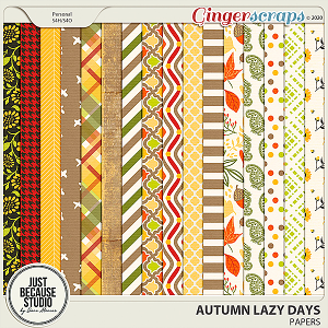 Autumn Lazy Days Papers by JB Studio