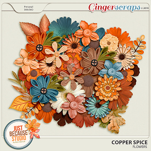 Copper Spice Flowers by JB Studio