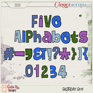 Birthday Boy Alphabets