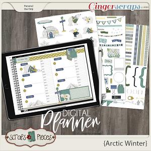 Arctic Winter Planner Pieces - Scraps N Pieces