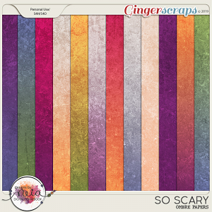 So Scary - Ombre Papers - by Neia Scraps