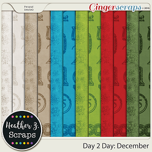 Day 2 Day: December EXTRA PAPERS by Heather Z Scraps