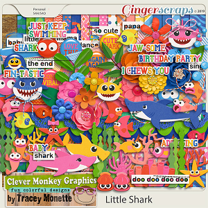 Little Shark  by Clever Monkey Graphics