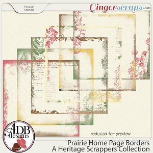 Prairie Home Page Borders by ADB Designs
