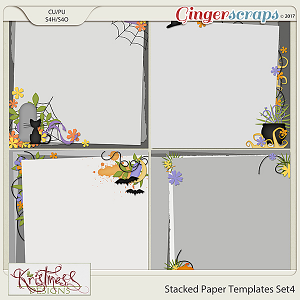 Stacked Paper Templates Set 4