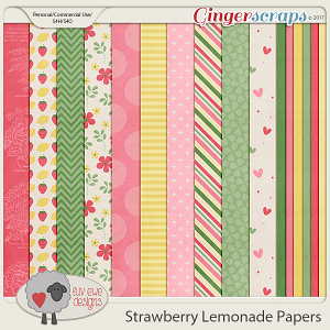 Strawberry Lemonade Papers by Luv Ewe Designs