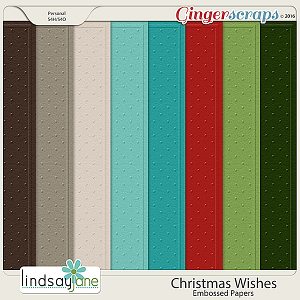 Christmas Wishes Embossed Papers by Lindsay Jane