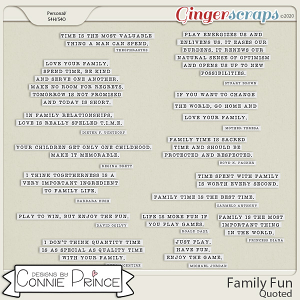 Family Fun - Quoted by Connie Prince
