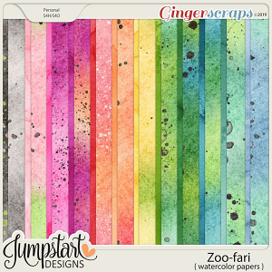 Zoo-fari {Watercolor Papers} by Jumpstart Designs
