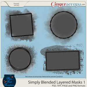 Simply Blended Layered Photo Masks 1 by Miss Fish
