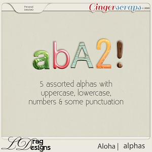 Aloha: Alphas by LDragDesigns