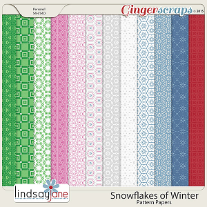 Snowflakes of Winter Pattern Papers by Lindsay Jane