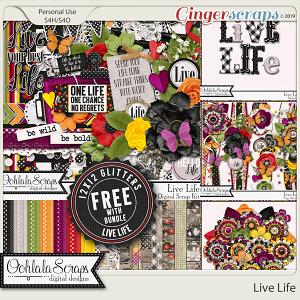 Live Life Digital Scrapbook Bundle
