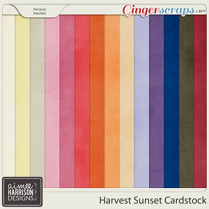 Harvest Sunset Cardstock Papers