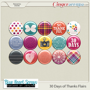 30 Days of Thanks Flair Pack