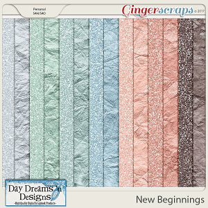 New Beginnings {Glitter Papers} by Day Dreams 'n Designs