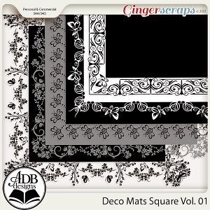 Square Deco Mats Vol 01 by ADB Designs