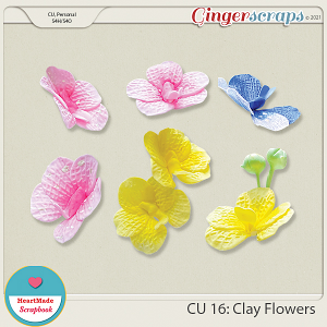 CU 16 - Clay flowers