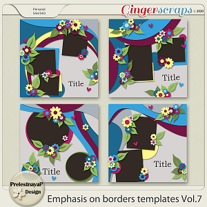 Emphasis on borders Templates Vol.7